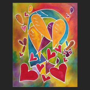 Exclamations of Love Notecard