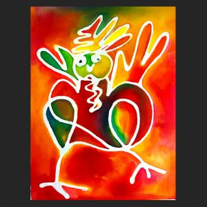 Rainbow Rooster Notecard